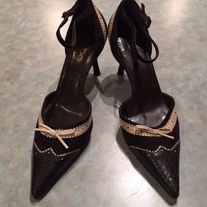Aldo brown pointed shoes